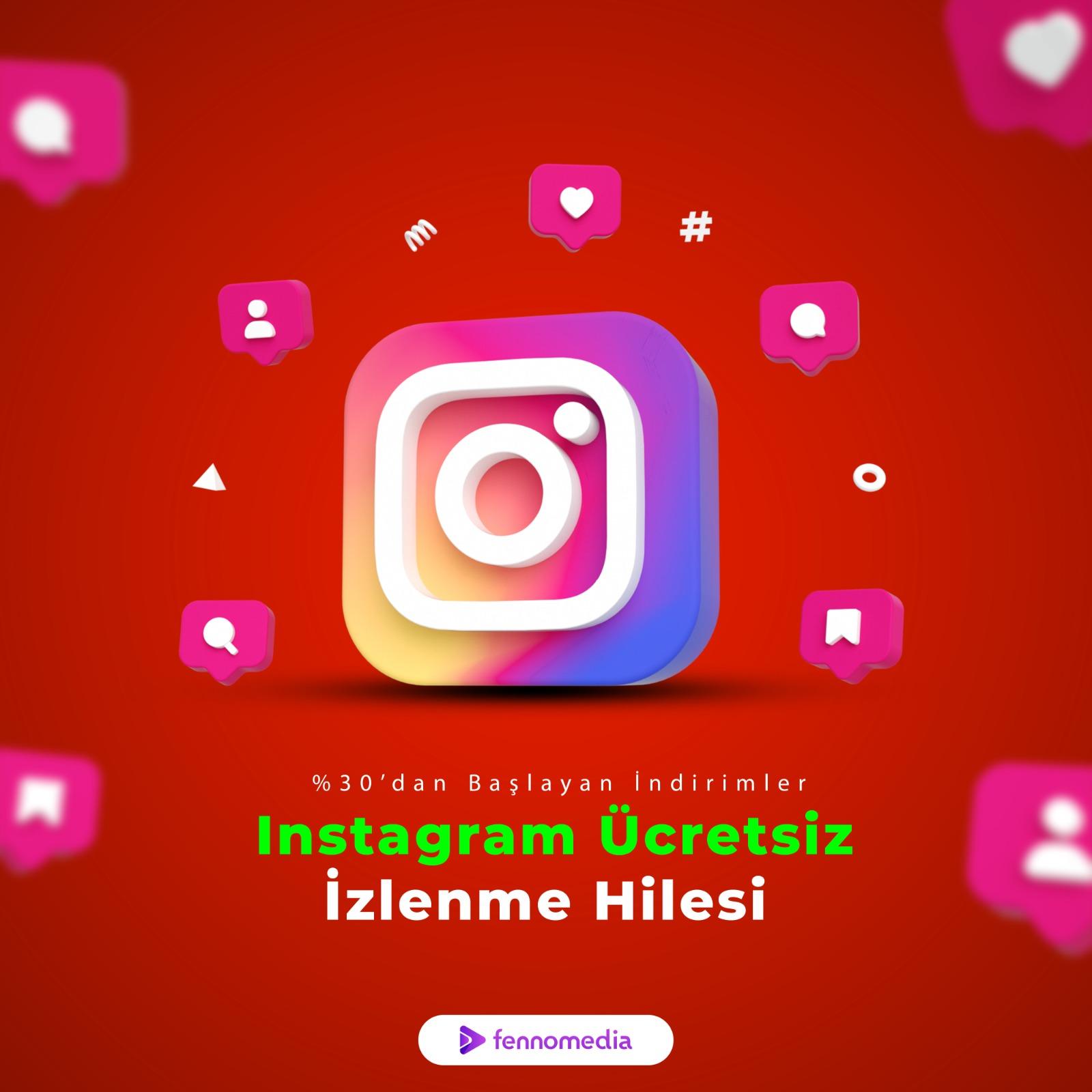 Instagram ücretsiz izlenme hilesi